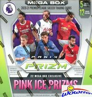 2020/21 Panini Prizm Premier League Factory Sealed MEGA Box-22 PINK ICE PRIZMS