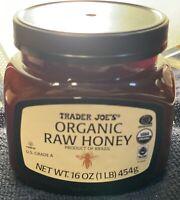Trader Joes Raw Organic Honey 16 Oz 1 Lb Jar Brazil