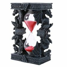 Mythical Fantasy Guardian Stone Double Dragon Sandtimer Hourglass Celtic Design