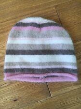 H&M Age 10-14 Angora Mix Stripe Beanie Hat <T7025