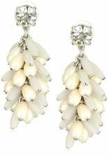 Kate Spade Gerbera Garden Earrings White  Modern Chic Wedding Jewelry