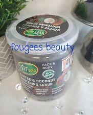 VEETGOLD COFFEE & COCONUT WHITENING SCRUB FACE & BODY 100% ORIGINAL 450G