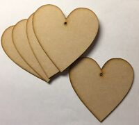 Wooden 60mm(6cm) laser cut 3mm  MDF Hearts blank craft shape sign with hole