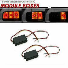 2 Universal Module Boxes w/ 3 Step Sequential Chase Flash Fits Turn Signal Light