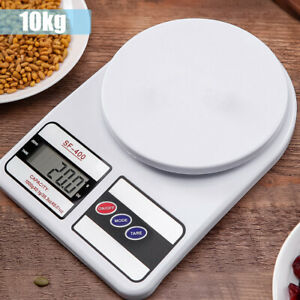 10kg Digital Kitchen Electronic Scales Stainless Steel LCD Cooking Weighing Food