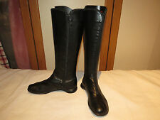CAMPER TWINS BLACK LEATHER KNEE HIGH BOOTS ASYMMETRIC ZIPS UK 5 EUR 38 RRP £150