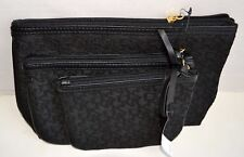 DKNY Town & Country Gift Sets Of 3 Make-up Bags Black NWT MSRP$85.00