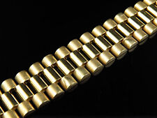 Mens 10K Yellow Gold Solid Link Designer 8 Inch Bracelet (14 MM)