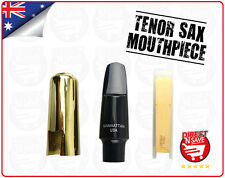 Tenor Saxophone Mouthpiece with Bamboo Reed Metal Protective Cap