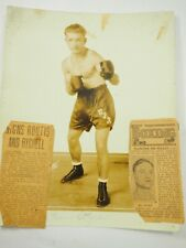 "Charles Rychell Professional Boxer 1925 Studio Photo with clipping 8"" x 10"" W-19"
