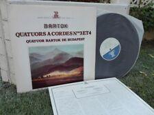 BARTOK: String quartets n°3 & 4 > Budapest Bartok Quartet/ Erato stereo Japan LP