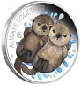 Tuvalu 2020 Always Together Otter Couple Half Dollar Silver Coin Proof