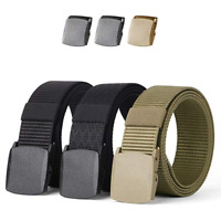 1/2PCS Nylon Military Belt Tactical Men Belt Webbing Canvas with Two Free Buckle