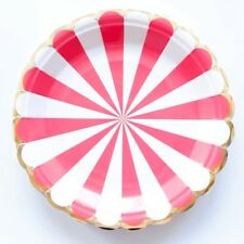 Party :  Paper Plate Scallop Gold Stamping Party Needs 10 pcs