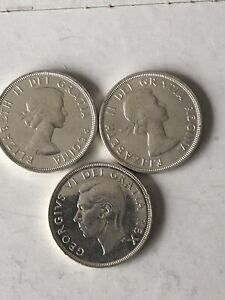 Three  Silver Dollar 1951,1957 And 1960