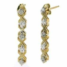 Butterfly Drop/Dangle Unbranded Fine Diamond Earrings