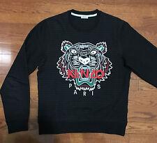 Kenzo Men's Classic Black Tiger Logo Sweater - Size M