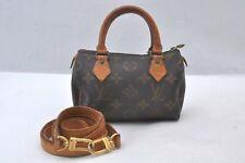 Authentic Louis Vuitton Monogram Mini Speedy Hand Bag M41534 LV A0055
