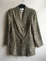 Apart Silk Women's Snakeskin Print Fitted comfortable Blazer Jacket Size 8