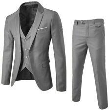 3-Pieces Men Blazer Suit Set Man Male Tuxedo Trouses Pants Men Slim Fit Formal