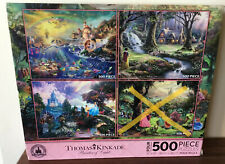 Thomas Kinkade Disney Parks Princesses 3-in-1 500 Piece Jigsaw Puzzle Ariel H02