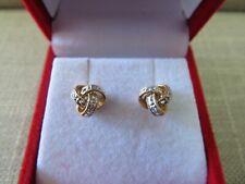 14k Gold and Diamonds Love Knot Stud Earrings