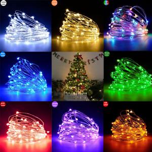 10M 100 LED Christmas Tree Fairy String Party Lights Lamp Xmas Waterproof 1M 10