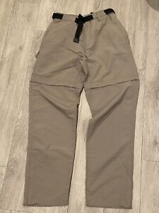 Womens The North Face Belted Convertible Cargo Hiking Pants  (Tan)  *SIZE S*