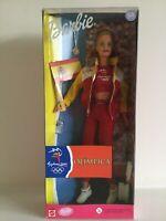 Barbie Doll Olympic Sport Sydney 2000 Spain Fan Spanish Flag Mattel 1999