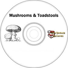 Mushrooms & Toadstools Vintage Book Collection on CD - Identify Edible Mushrooms