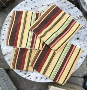 LOT Pottery Barn Duncan Stripe Square Pillows  Shams U Get 4 Shams & 4 Pillows