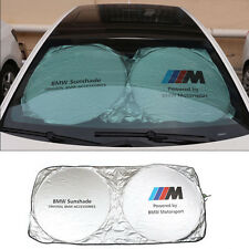 Front Rear Windshield Foldable Sun Shade Cover Visor Heat Isolate BMW Motorsport