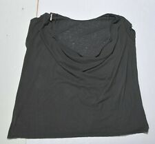 Woman's FREE PEOPLE Black Blouse Top Shirt Linen Blend Short Sleeve Size Small S