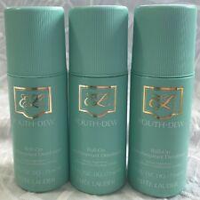 3x ESTEE LAUDER Youth Dew ROLL ON Deodorant ANTI-PERSPIRANT New FRESH 2.5 oz SET