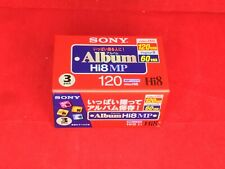 SONY 8MM 120 Minutes Cassette Tape 3 Pack From Japan