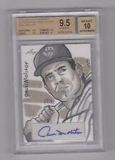Paul Molitor 1/1 2013 Leaf Masterworks Autographed Sketch Card BGS 9.5 /10 Pop 1