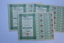 LUTETIA EXPLOITATIONS PETROLIFERES ACTION DE 100 FRANCS 1924 X 88 ACTIONS