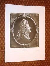 Re Luigi XIV Louis Medaillon de bronze doré Versailles