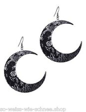 Restyle Ohrringe GROß Mond Gothic Occult Crescent Moon Sailor Earrings Steampunk