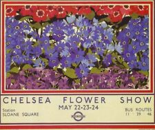 1935 Chelsea Flower Show Londres travela3 Cartel Reimpresión