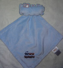 Thomas The Tank Engine Train Baby Security Blanket Blue Rattle Satin