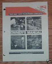 TROY-BILT HORSE III OPERATORS, SERVICE & PARTS MANUALS