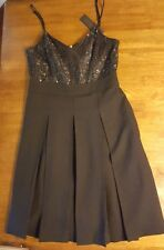 MARC BY MARC JACOBS BLACK Cocktail Dress WOOL LACE Sparkle PLEATED GLORIA 6 $548