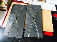 lot de 2 droites scalextric - rails en croix - CMMT47