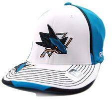 San Jose Sharks Reebok MO75Z NHL Center Ice Stretch Fit Hockey Cap  L/XL