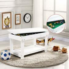 White double-layer children's game activity table 83 * 43 * 49 toy storage game