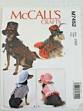 McCall's  M7452 Pet Costumes Steampunk Pet Hats Dresses Jackets Pet Couture-NEW