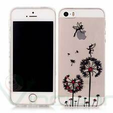 Pellicola+Custodia flessibile FATINE DENTI DI LEONE per iPhone 5 5S SE cover TPU