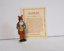 Woodmouse Family Samuel Figurine Franklin Mint 1985 Porcelain With Card 8899