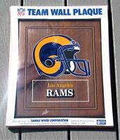 NFL Team Wall Plaque Los Angeles Rams Helmet Wood Plaque **MINOR FLAWS**